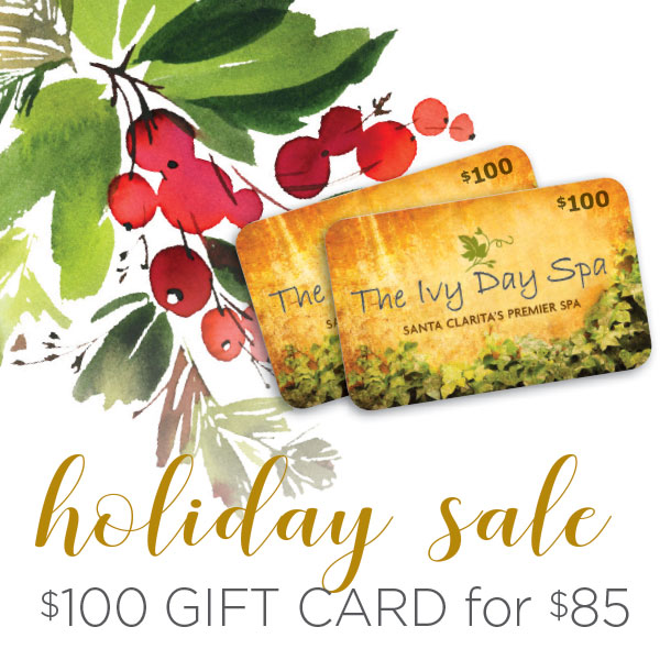 Instant Spa Gift Card online Happy SPA-lidays SALE $100 Gift Certificate for $85