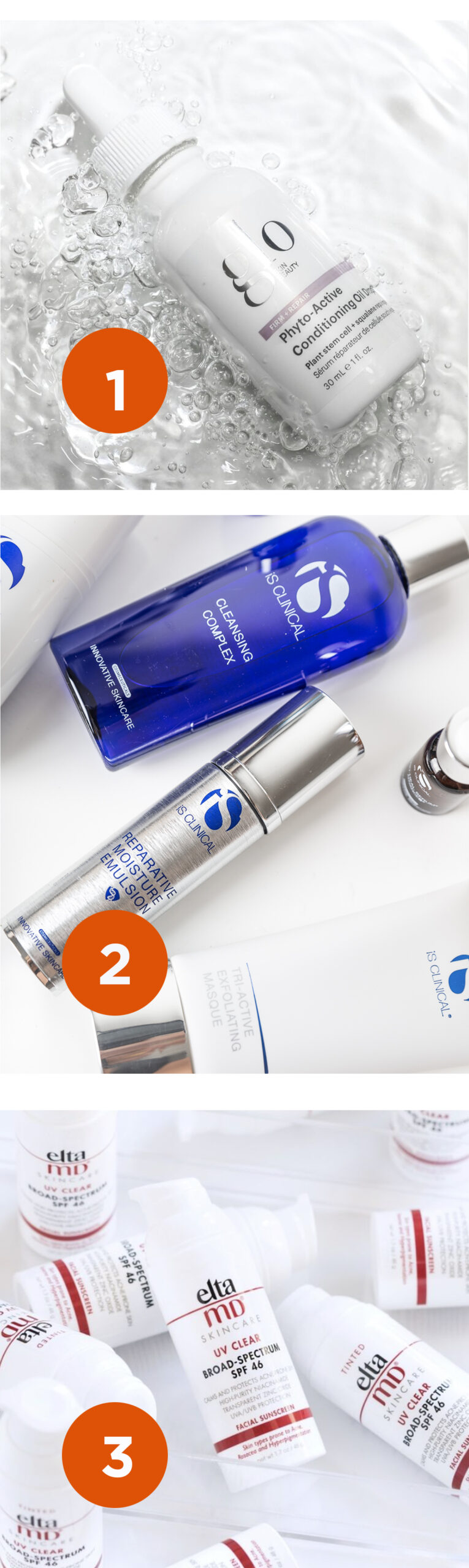 summer skincare from Glo, iSClinical, EltaMD